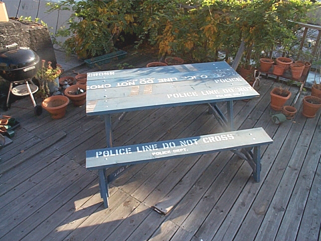 Police Picnic Table / © Re-Gallery